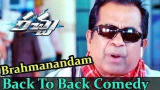 Rachaa - Racha Movie    Brahmanandam Back To Back Comedy Scenes    Ram Charan, Tamannaah
