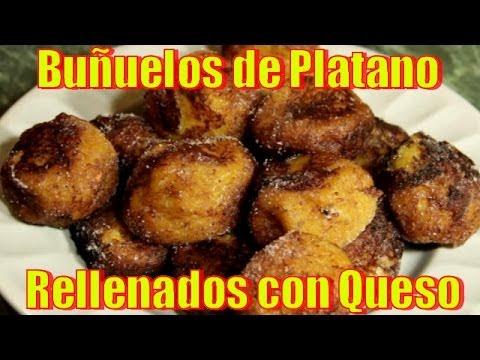 Buñuelos de Platano, Rellenados con Queso - Recetas en Casayfamiliatv