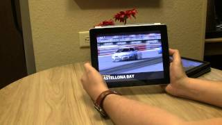Real Racing 2 HD on the iPad 2 and iPad 1