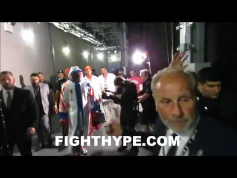 SHANNON BRIGGS INTENSE RING WALK FOR UK DEBUT (BEHIND-THE-SCENES LOOK)