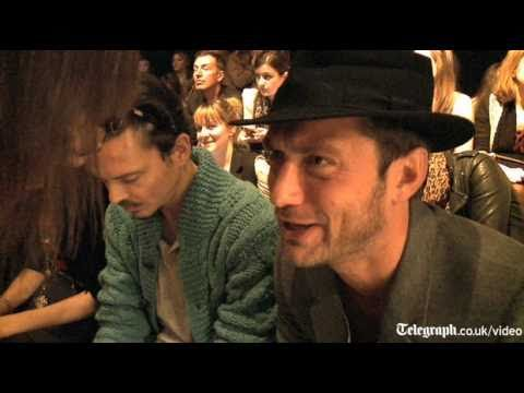 London Fashion 2010 Twenty8Twelve show with Sienna Miller and Jude Law interview