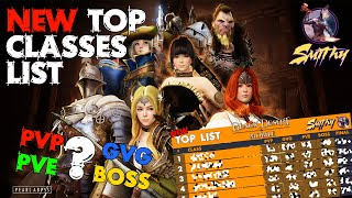 📋TOP CLASS, BEST CLASS - New Classes Ranking by Smithy - Black Desert Mobile Global