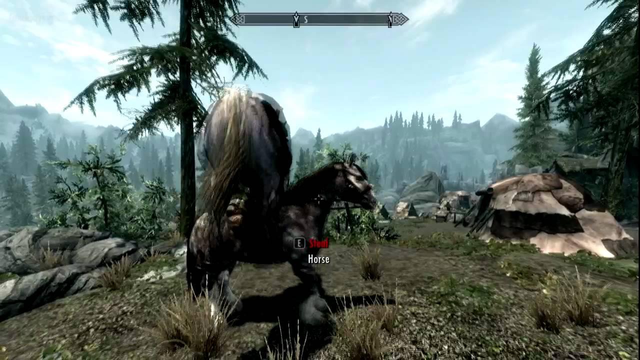 Horses mating in skyrim?!?!!?!?! - YouTube