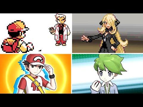Evolution of the Strongest Pokémon Trainer Battles (1996 - 2017)