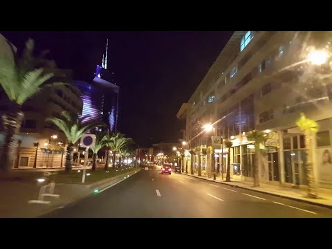 Rabat Drive by Night - The lights city
