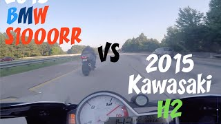 2015 Kawasaki H2 VS 2015 BMW S1000RR *Rematch*