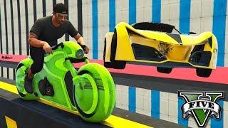 GTA V Online: MOTO TRON vs X80 - DE VIRADA com MITADA!!!