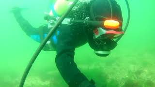 2018 10 5 Scuba diving Bass River Justin with pony bottle
