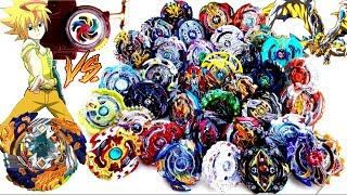 HAND SPIN GEIST FAFNIR vs ALL BEYBLADE BURST -Beyblade Burst Turbo Super Cho-Z Evolution 超ゼツ