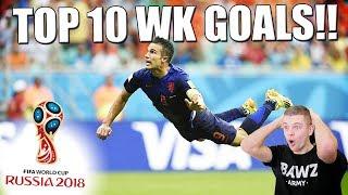 TOP 10 MOOISTE VOETBAL WK GOALS ALLER TIJDEN!!