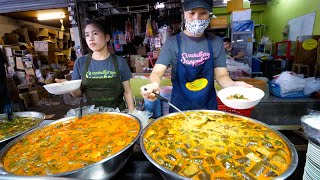 Michelin Guide Street Food Tour!! $0.64 THAI CURRY NOODLES in Chiang Mai, Thailand!