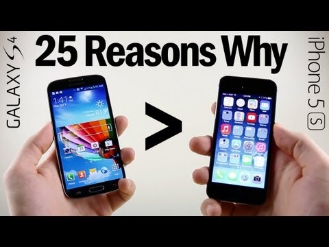 25 Reasons Why Galaxy S4 Is Better Than iPhone 5S