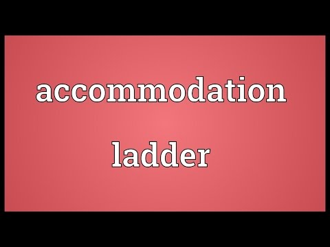 Header of accommodation ladder