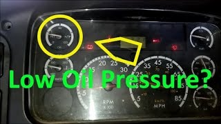 What Causes Low Oil Pressure?  Troubleshooting And Causes Of Low Diesel Engine Oil Pressure.