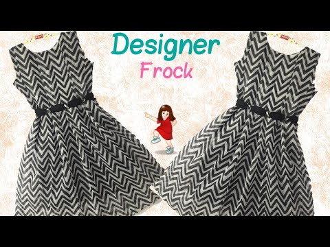 Very easy and New design 2018 frock for younger Girl // cutting and stitching full tutorial