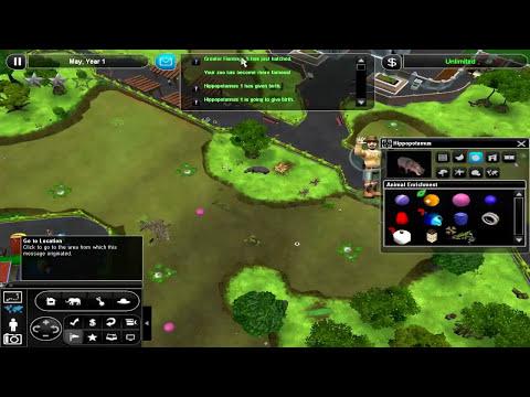 Zoo Tycoon 2 Free Form -  Episode 20 - Tapir, Rhino & Co. | Thisweirdgamer