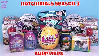 LOL Confetti POP Surprise Toys Unboxing Hatchimals SEASON 3 Puppy Dog Pals SlitherIO Minis Smashers