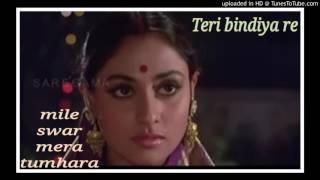 Teri bindiya re..Karaoke for Female