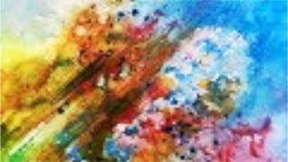 Paint a colorful  Abstract, a fun step by step Watercolor Tutorial