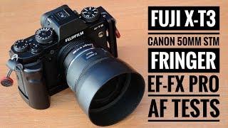 Fuji X-T3 | Canon 50mm f1.8 STM | Fringer Ef-Fx Pro - AF Tests