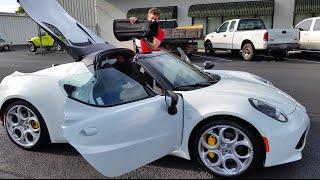 2016 Alfa Romeo 4C Spider Top Operation Visibility