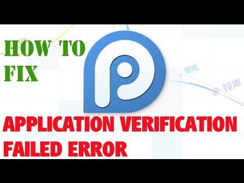 How To: Fix Application verification failed error 25pp
