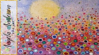 Floral Landscape Acrylic Painting Tutorial (Yvonne Coomber Inspired) - Free Lesson for All Ages