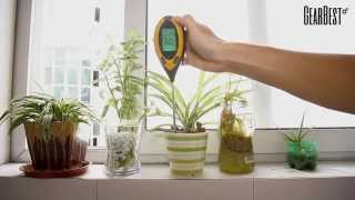 4 In 1 Digital pH Moisture Sunlight Soil Meter