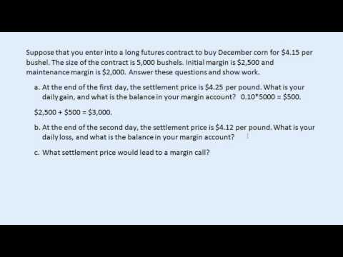 Futures margin accounts and settlement