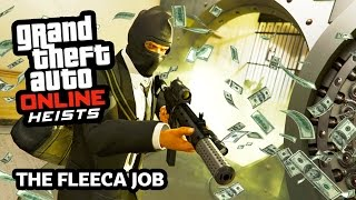 GTA 5 Heist Online Gameplay THE FLEECA JOB Heist! (GTA 5 Online Heist DLC Update Gameplay)