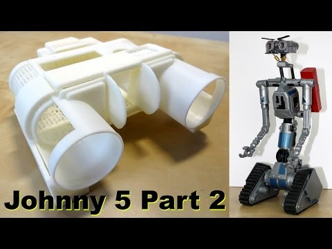 XRobots - Short Circuit Johnny 5 half scale replica prop build PART 2
