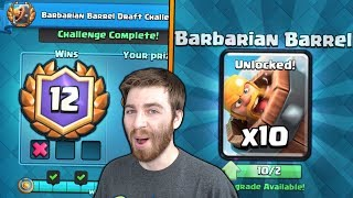 NEW 12 WINS BARBARIAN BARREL CHALLENGE GAMEPLAY! | Clash Royale | NEW BARBARIAN BARREL UNLOCKED!