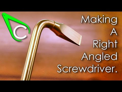 Spare parts #6 - Making A Right Angled Screwdriver