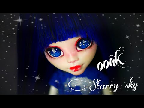 OOAK Starry sky Monster High Custom doll repaint diy