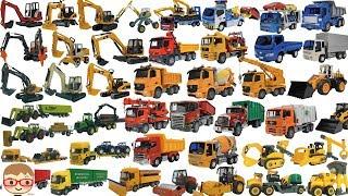 Vrachtwagenwagen voor kinderen | Bouwvoertuigen voor kinderen Excavator-video's voor kinderen