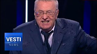 """Shut Up You Fucking Whore!"" Zhirinovsky To Liberal Jewess Candidate Ksenia Sobchak"