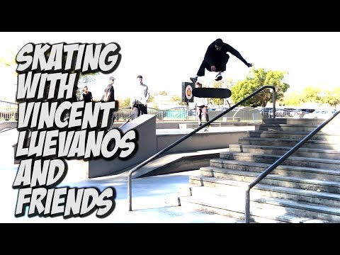 SKATING WITH VINCENT LUEVANOS AND THE IDOLS CREW !!! - NKA VIDS