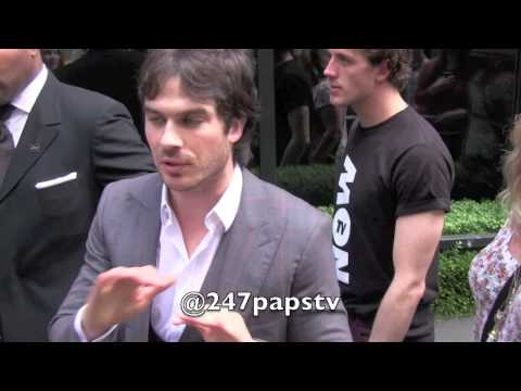 Ian Somerhalder Kiss The Girl at CW Network Upfronts in NYC