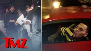 Chris Brown -- Crowd Swarms Lambo ... Ragin
