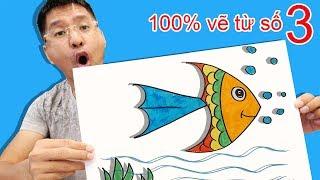 100% Vẽ Con Cá Từ Số 3   Bố Bé Bún Hướng Dẫn Vẽ Cá Đơn Giản