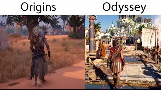 Assassin's Creed Odyssey vs Assassin's Creed Origins- Combat System, Gameplay Comparison
