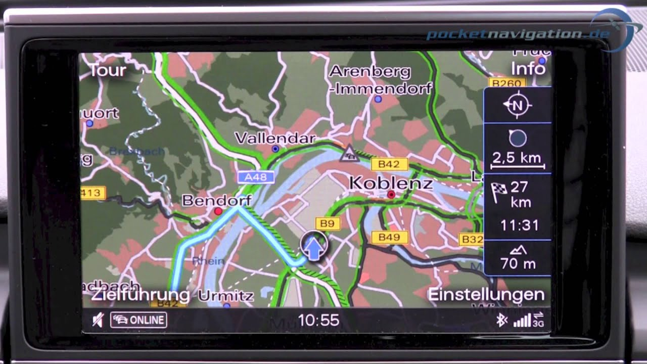 audi mmi navigation plus im test teil 1 2 youtube. Black Bedroom Furniture Sets. Home Design Ideas