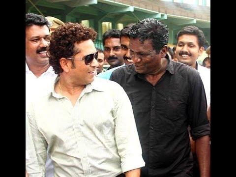 Sachin Tendulkar naming Kerala football team as Kerala Blasters.