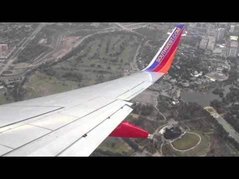 Southwest Airlines Landing in Houston