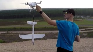 Lifting a Glider With a Dji Phantom Drone