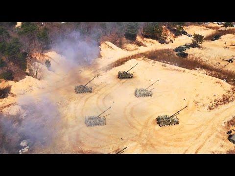 軍の演習デモンストレーション映像