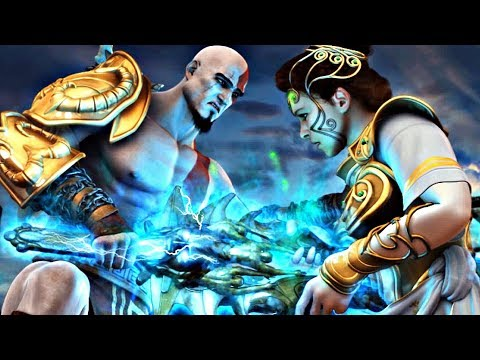 God of War 2 - Kratos Kills Athena (Athena Saves Zeus)