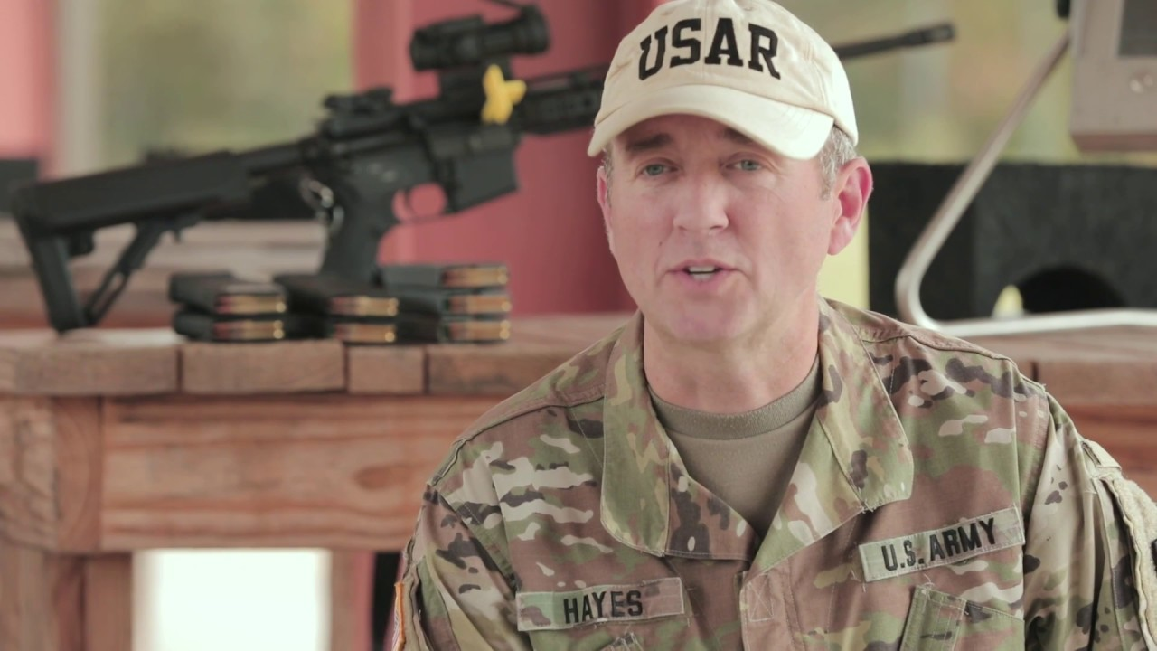 U.S. Army Reserve Chief Warrant Officer 3 Joseph Hayes, a member of the U.S. Army Reserve Competitive Marksmanship Program, shares tips to increase accuracy on the range and lethality on the battlefield. (U.S. Army Reserve video by 335th Signal Command (Theater) Public Affairs)  https://www.dvidshub.net/video/633752/increasing-accuracy-and-lethality-with-mr-hayes-stability