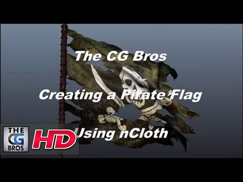 Maya nCloth Dynamics Tutorial: Creating A Tattered Pirate Flag (Intermediate Lev