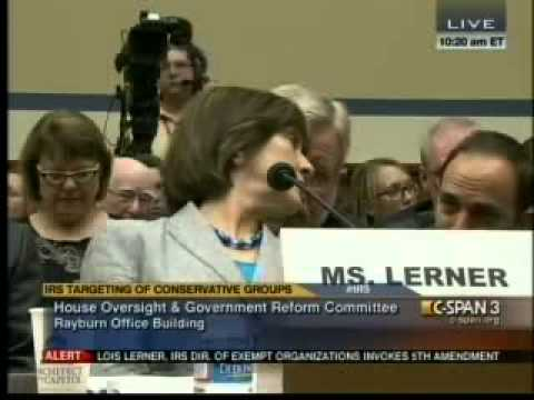 Confusion Plagues IRS Hearing Over Lois Lerner Pleading the 5th